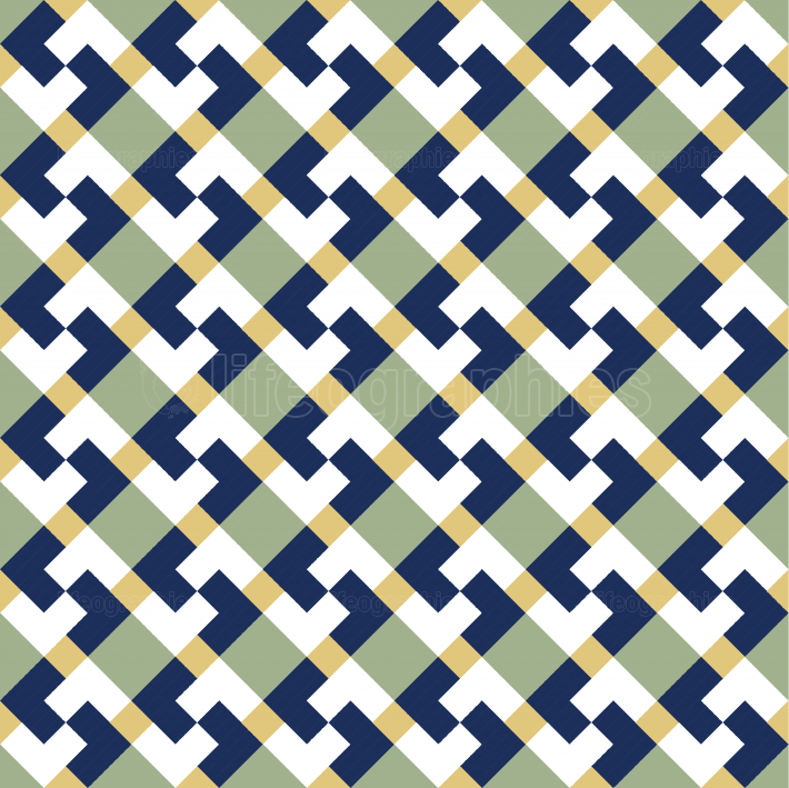 Colorful abstract seamless geometrical tiles pattern
