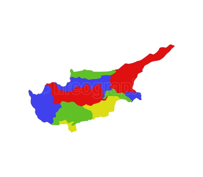 cyprus map with regions