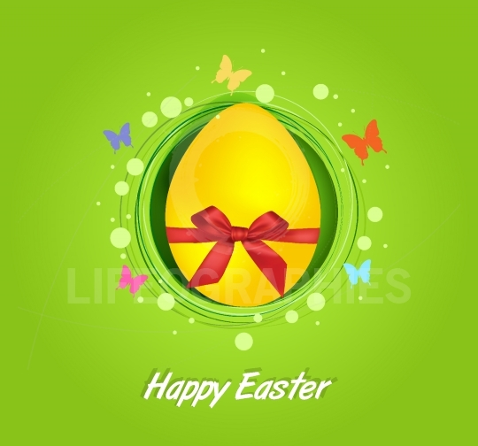 Easter yellow egg gift card