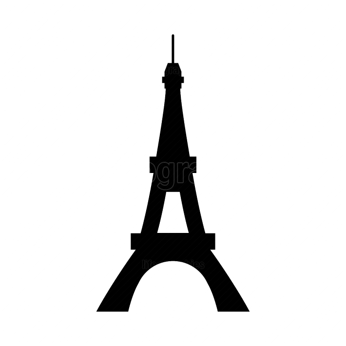 Eiffel Tower black color icon