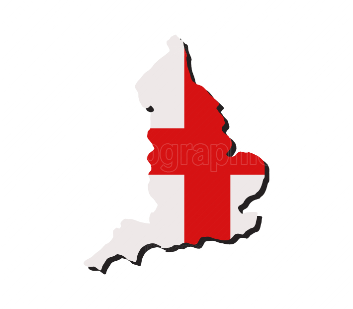 England map with flag
