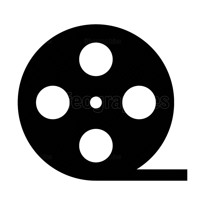 Film strip black color icon