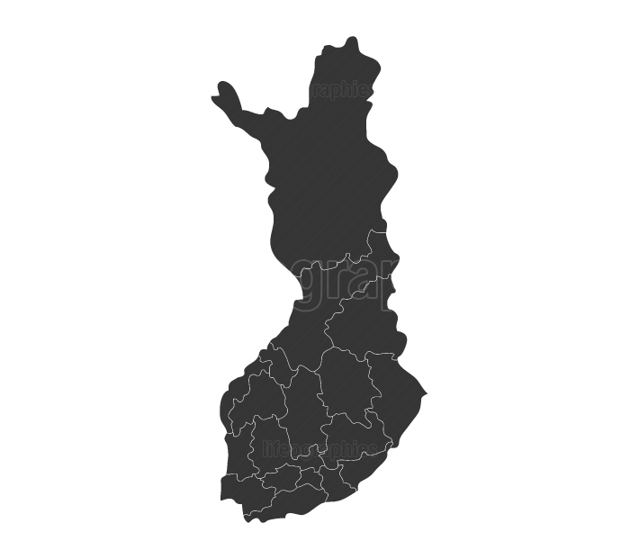 Finland map with regions