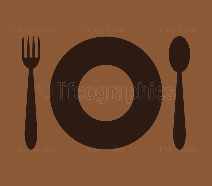 flat icon and cutlery
