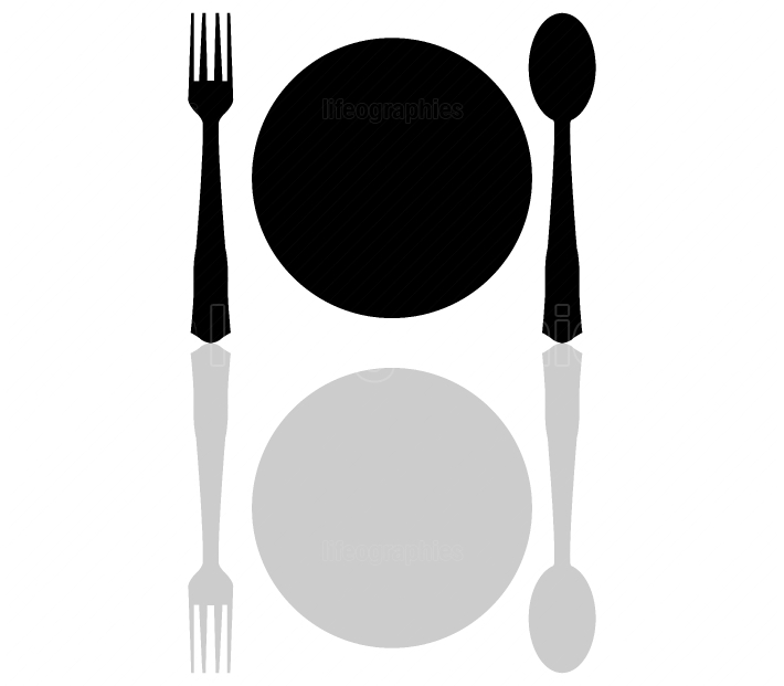 flat icon with cutlery