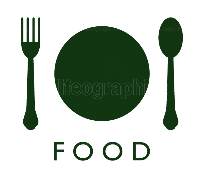flatware and plate icon