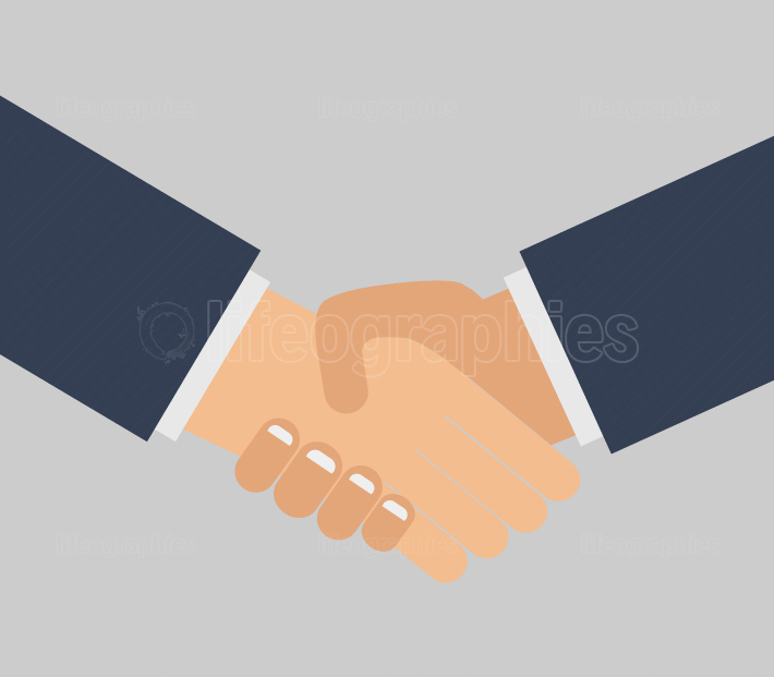 handshake icon on white background