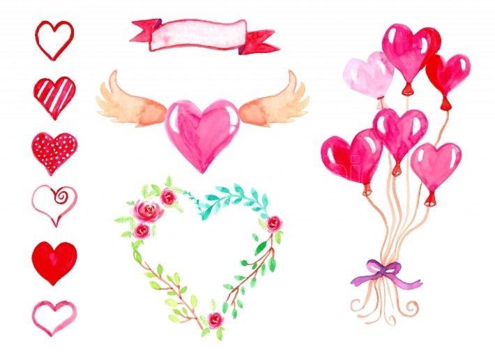 Happy Valentine's Day illustration collection.