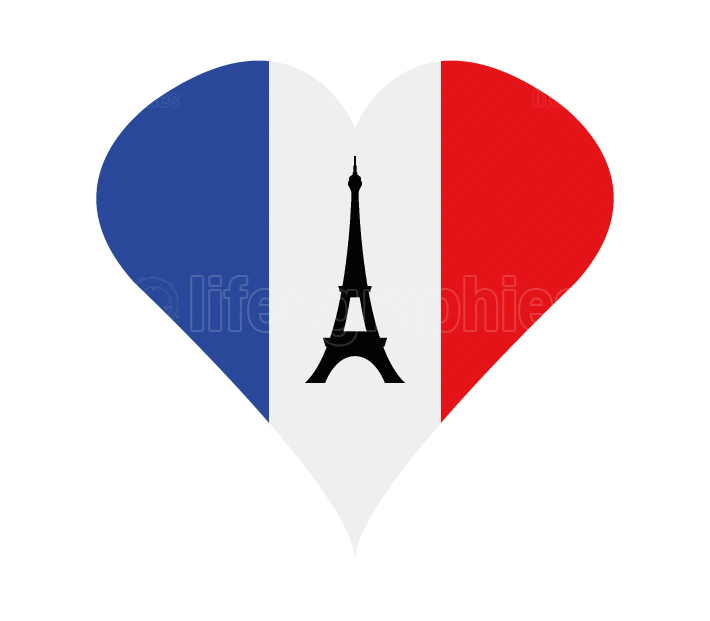heart with france flag