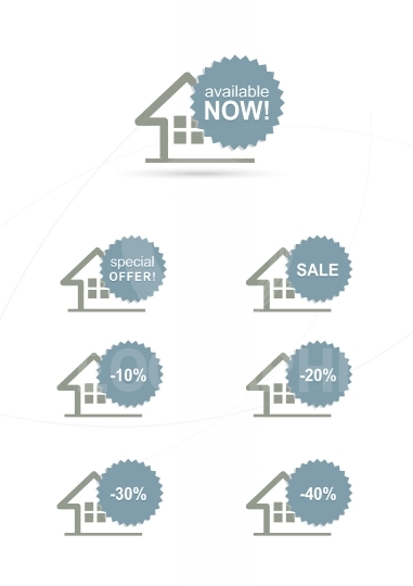 Home stickers set with discount sale