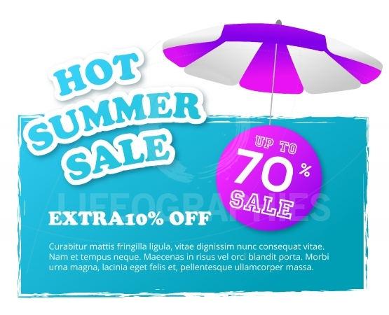 Hot special summer sale banner