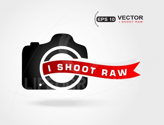 I shoot Raw.Love photo.Shoot Raw photo format.Concept icon for p