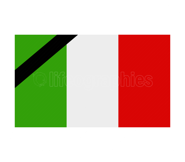 italy flag with mourning