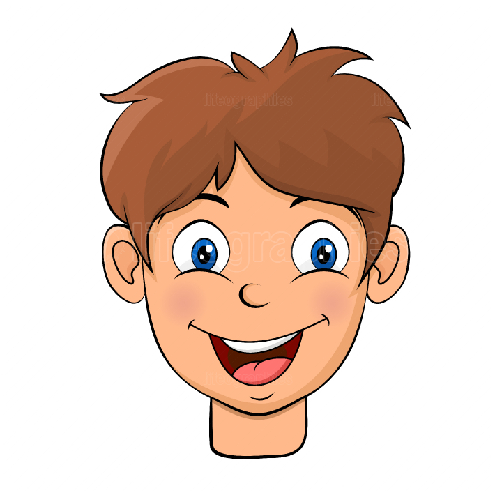 Little boy avatar head face cartoon design isolated on white bac