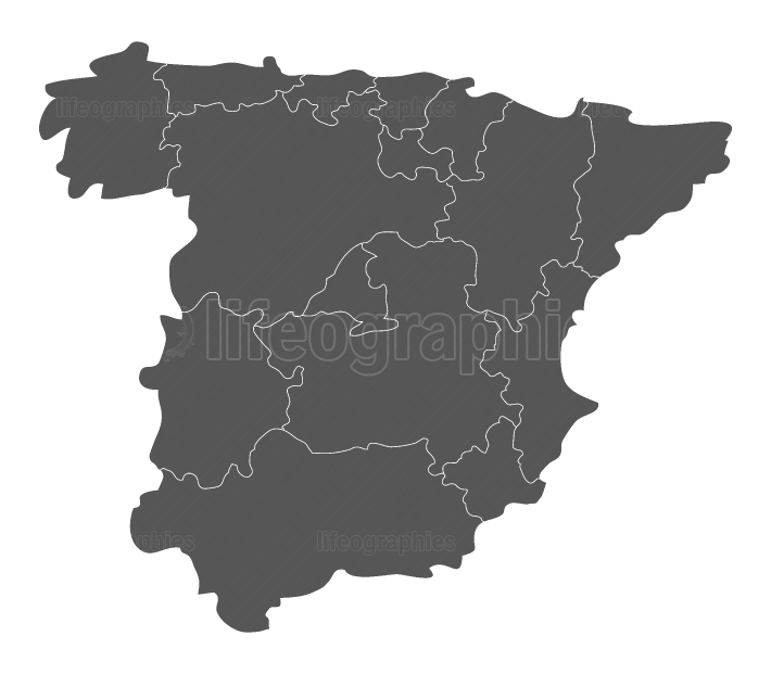 map spain with regions