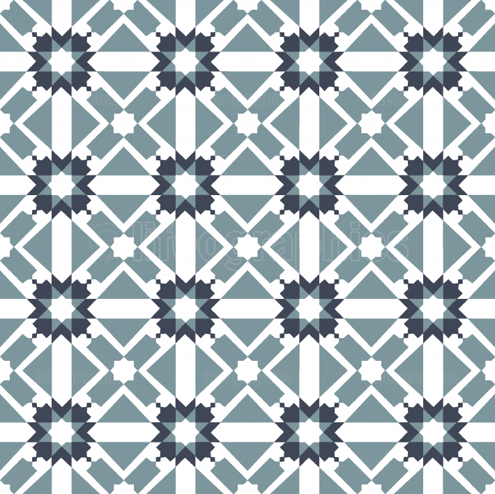 Modern Arabic tile pattern
