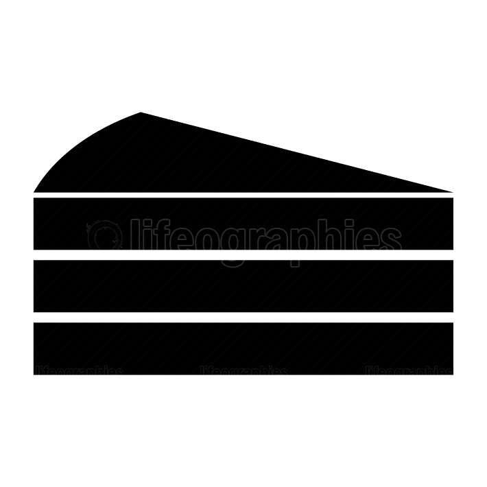 Piece of cake black color icon