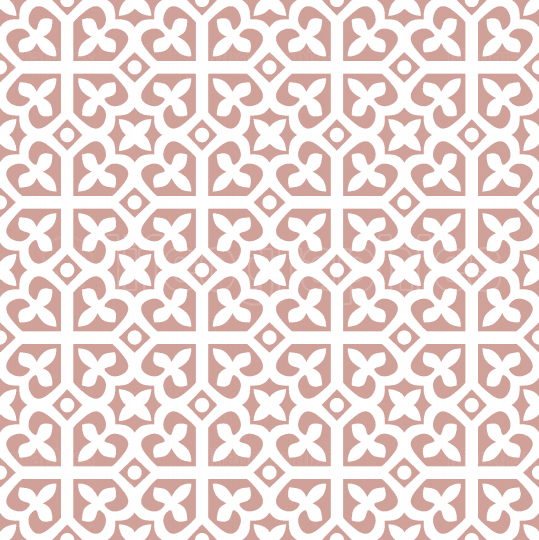 Pink and White seamless abstract floral pattern