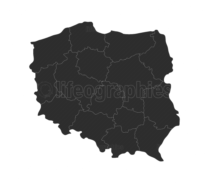 poland map with regions