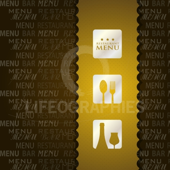 Restaurant Menu presentation in brown background