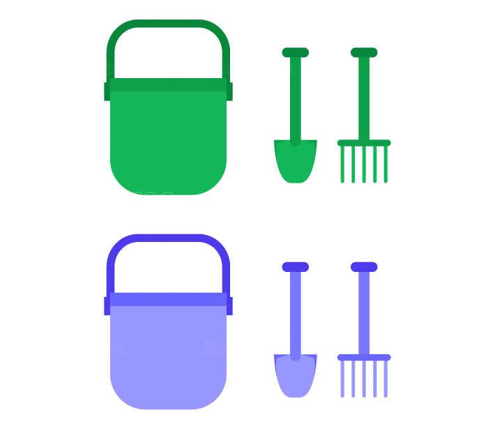 scoop and bucket icon