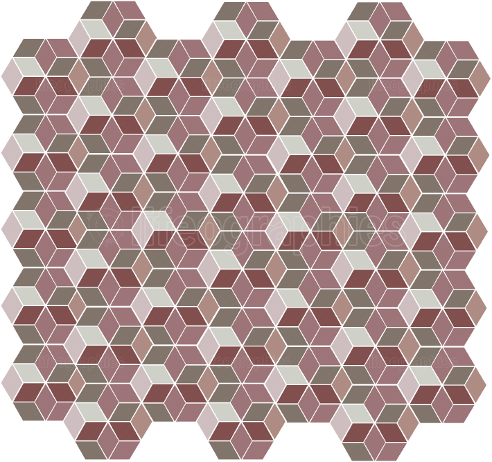 Seamless hexagonal geometric pattern
