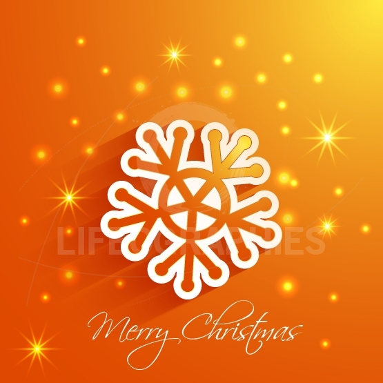 Snowflake  Merry Christmas card