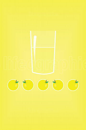 Stylized lemon juice in a glass