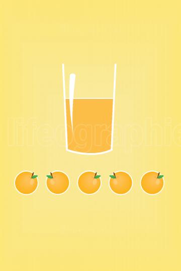 Stylized orange juice in a glass