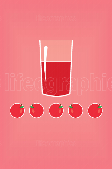 Stylized red apple juice in a glass