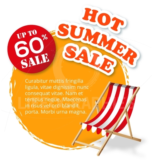 Summer Sale label template