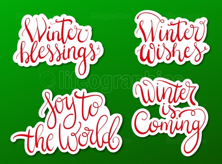 Winter wishes stickers